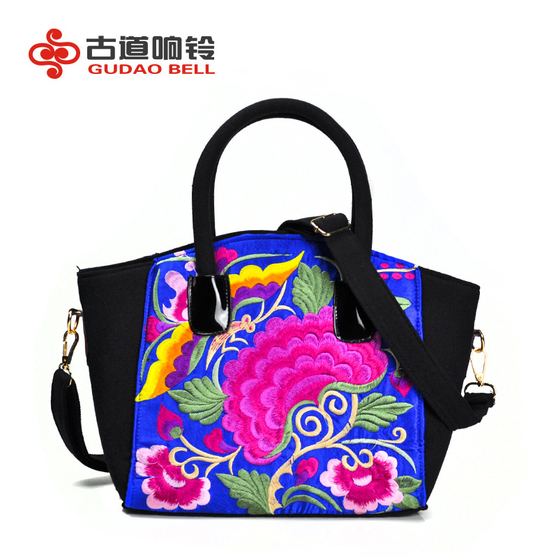 ФОТО female handbag messenger manufacturers wholesale diagonal cross-national wind bag embroidered women's to support distribution