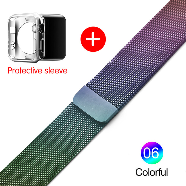 Milanese Loop For Apple Watch band strap 42mm/38mm iwatch4/3/2/1Stainless Steel Link Bracelet wrist watchband magnetic buckle 4
