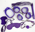 7Pcs/Kit Purple PU Leather Bdsm Bondage Set,Adult Bed Restraints Slave Game Fetish Erotic Sex Toys Prodsucts Kit For Couples