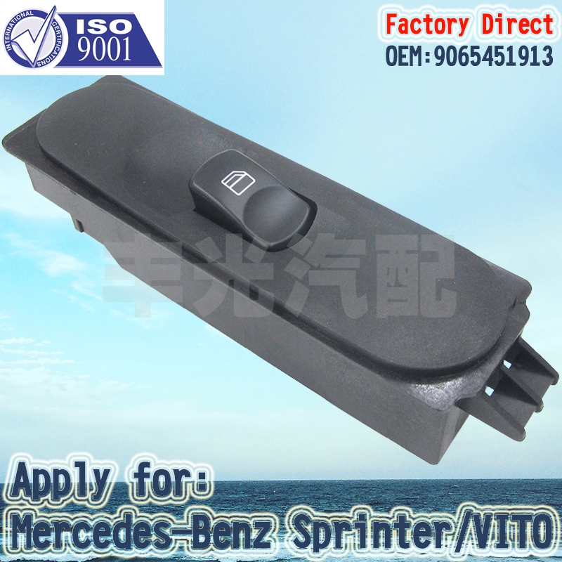Factory Direct ELECTRIC POWER WINDOW CONTROL SWITCH Apply For Mercedes-Benz Sprinter A9065451913 Right Passenger Side