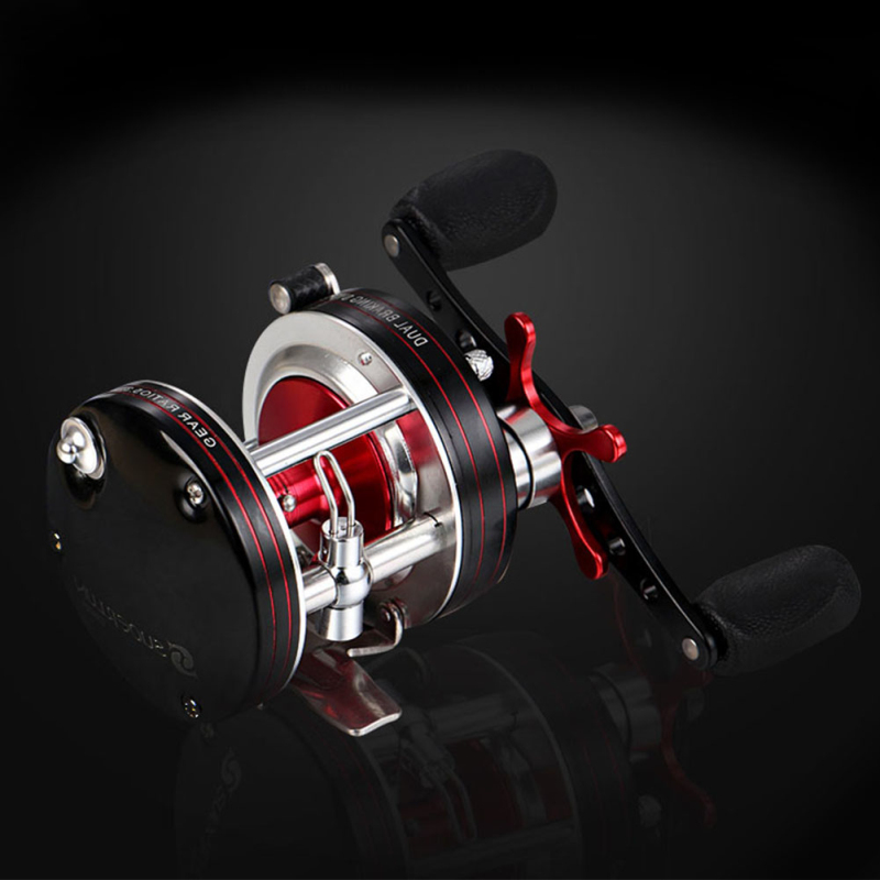 Full Metal Fishing Trolling Reels 5+1 BB Large Reel for Long Distance Fishing Reel Baitcasting Fishing Lure Reel for Bass Carp