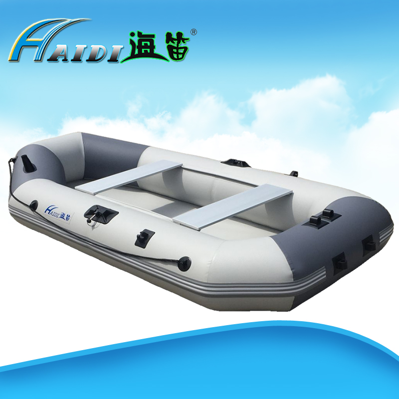Active Haidi Inflatable Boats 3 Layer Pvc Clip Net Fishing Boat Rowing 4 Person With Wire Drawing Bottom For Drifting Surfing Sandbeach Marine Propeller