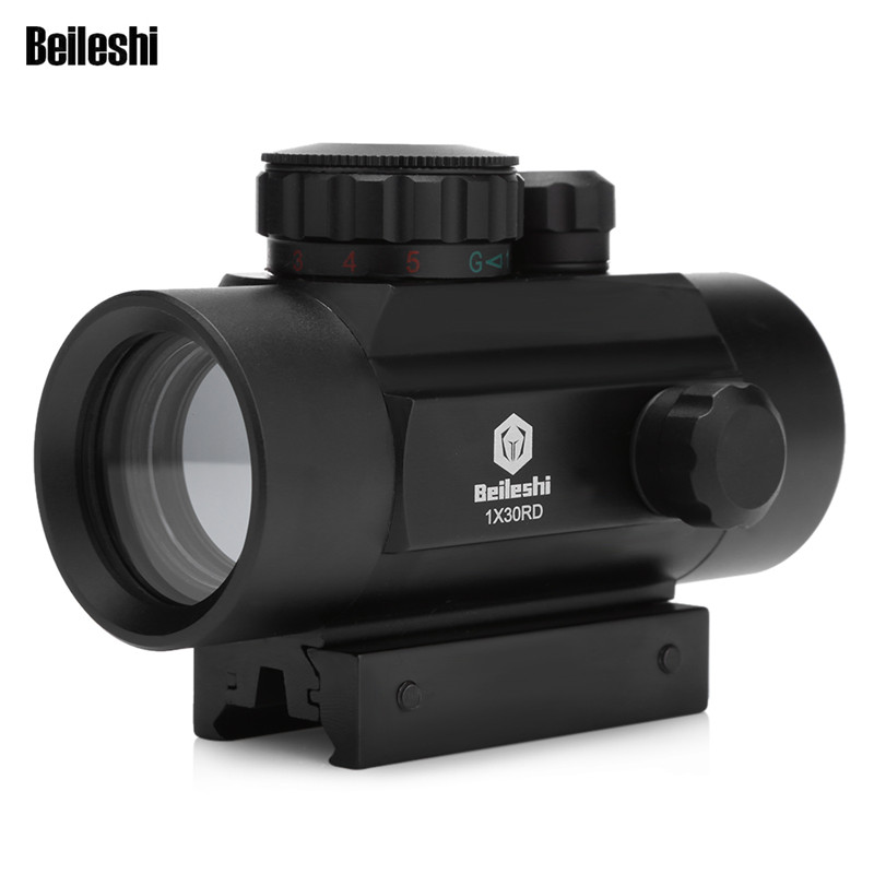 Outlife Hunting Optics Scope 1X30 Holographic Riflescope Red Green Dot Tactical Sight 20mm Air Rifle Scope For Hunting Airsoft compact m7 4x30 rifle scope red green mil dot reticle with side attached red laser sight tactical optics scopes riflescope