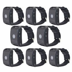 8Pcs 433MHz Wireless Watch Calling Receiver for Hospital Waiter Nurse 4 Channel Call Pager Paging System  F4411A