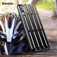 Baseus Rugged Armor Case For iPhone Xs Max Coque Helmet Soft Silicone Hard PC Hybrid Protective Cover For iPhone XR Xsmax Fundas
