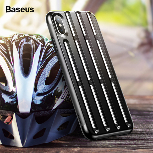 Baseus iPhone XR XS Max Rugged Armor Helmet Design Soft Silicone Hybrid Protective Case Cover