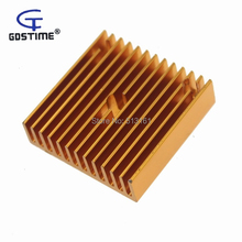 Gdstime 50pcs/lot 40 x 40 x 10mm 40mm Heat sink Aluminum Heatsink Radiator For 3D Printer 40120026 aluminum heatsink radiator black 37 x 37 x 3mm