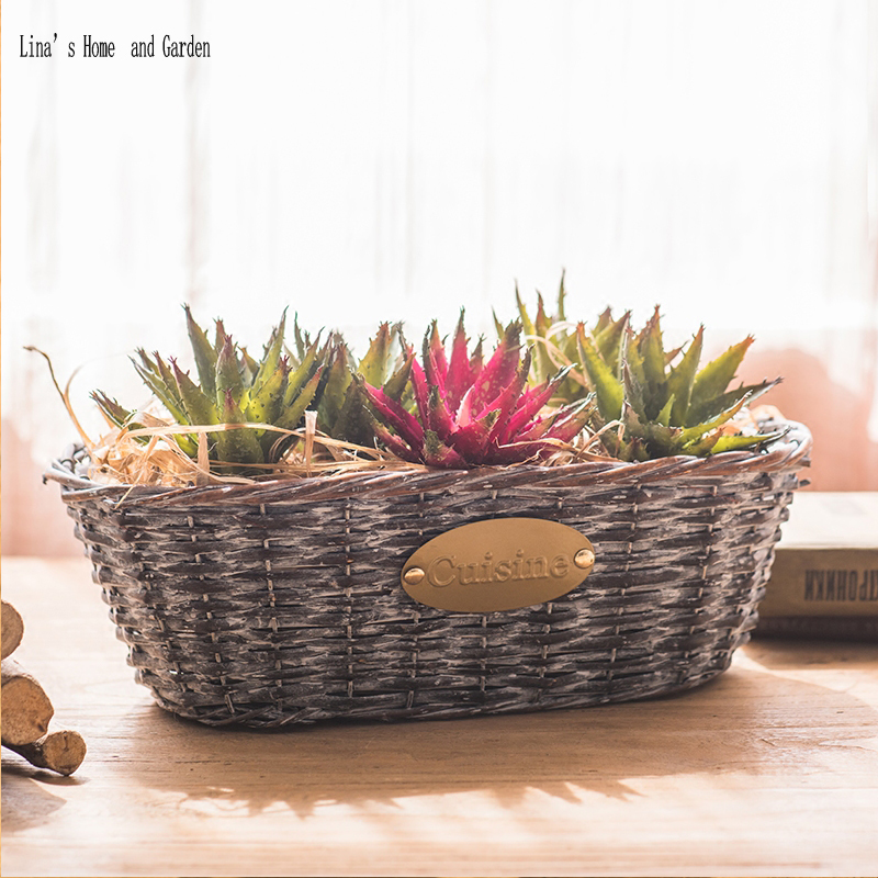 Vintage Farmhouse Decor Hand Made Wicker Wall Baskets For Flowers In Flower Pots Planters From Home Garden On Aliexpress Alibaba Group