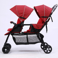 Beioulai Twin Baby Stroller Baby Sitting Before And After The Car Light Double Car Child Cart