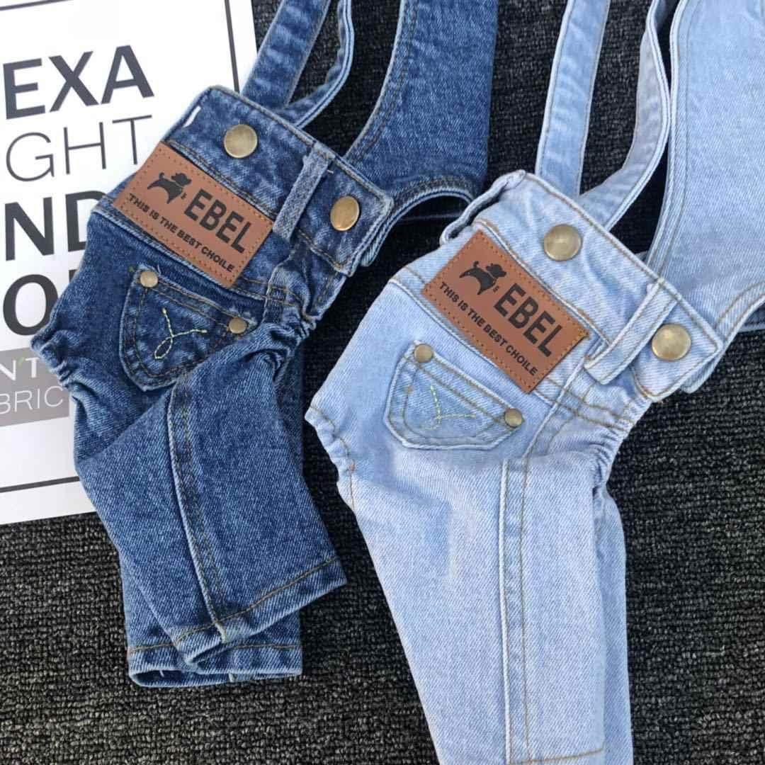 Детский комбинезон из джинсовой ткани для собак маленькие собаки, питомцы одежда универсальные джинсы-карандаши для Чихуахуа Мопс летняя одежда для собак, костюм для щенков S-XXL