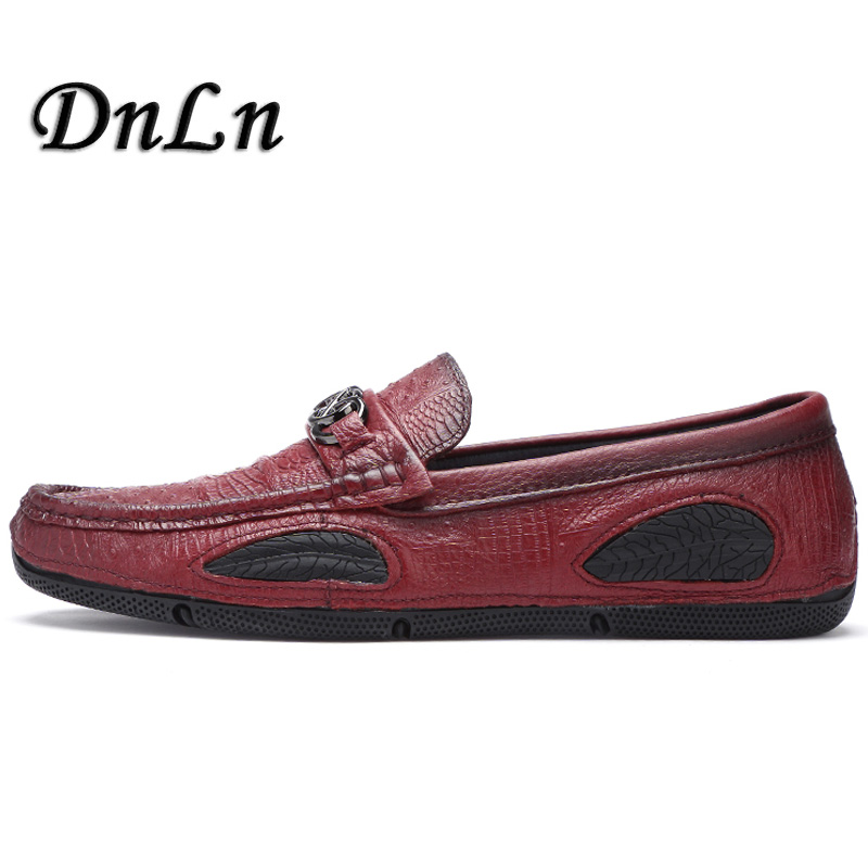 Men Loafers Leather Genuine Luxury Designer Slip On Mens Loafer Shoes Italian Brand Dress Loafers Men Moccasins Shoes D50 mycolen mens loafers genuine leather italian luxury crocodile pattern autumn shoes men slip on casual business shoes for male