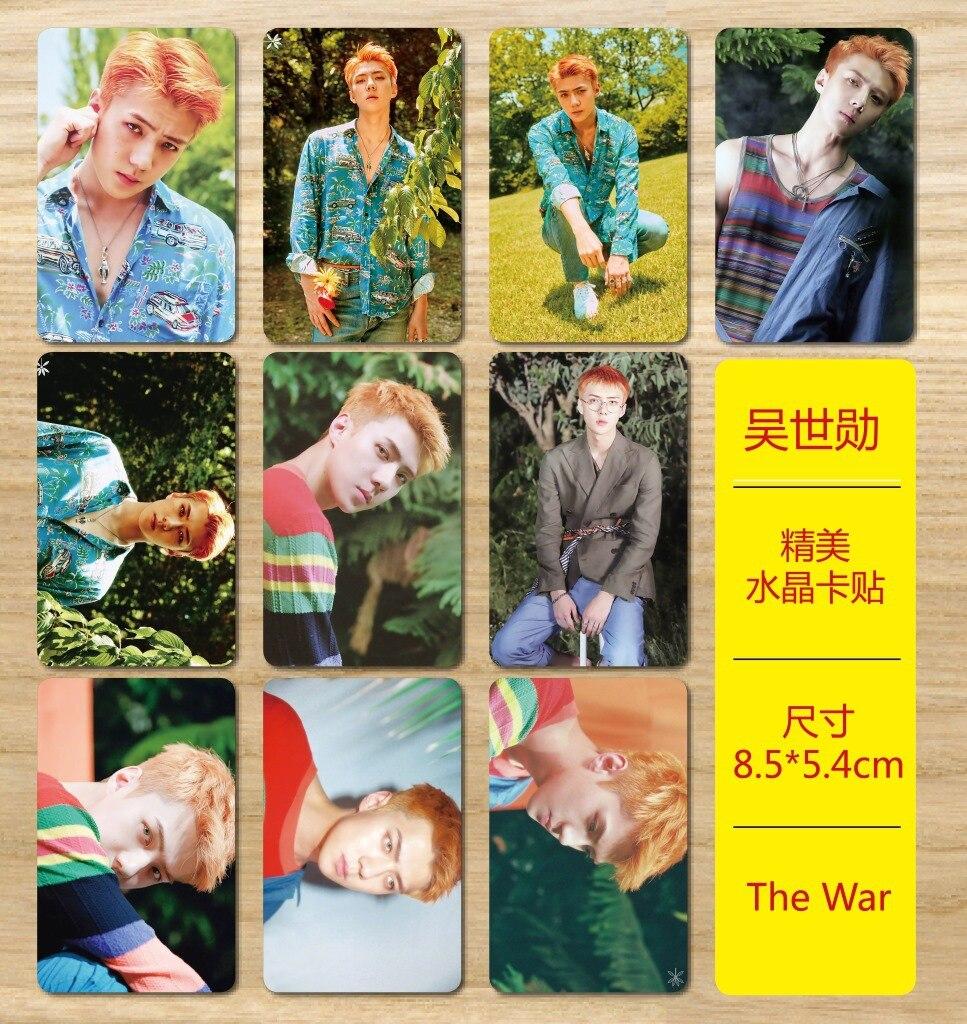 [MYKPOP]EXO SEHUN THE WAR Photo Album Crystal Sticker 10pcs/set SA18041511
