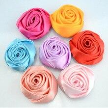 Nishine 120pcs/lot Rose Flowers DIY Accessory Boutique Wedding Decoration Flower No Hairclip Headwear Hair Accessories