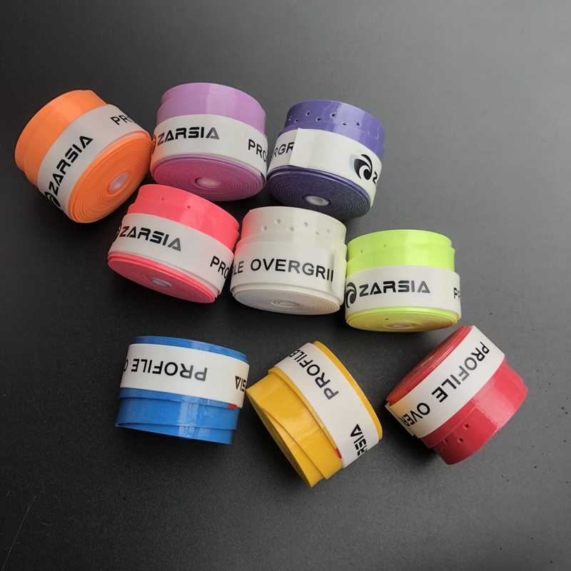 3pcs ZARSIA Sticky feel Tennis Racket Overgrips perforated badminton Racquets Thin 11 colors tennis Over grip