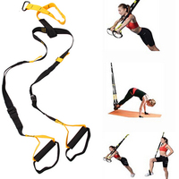Hanging Tranining Strap FITNESS Cross Fit Suspension Trainer With Door Anchor Straps Heavy Duty Buckles And