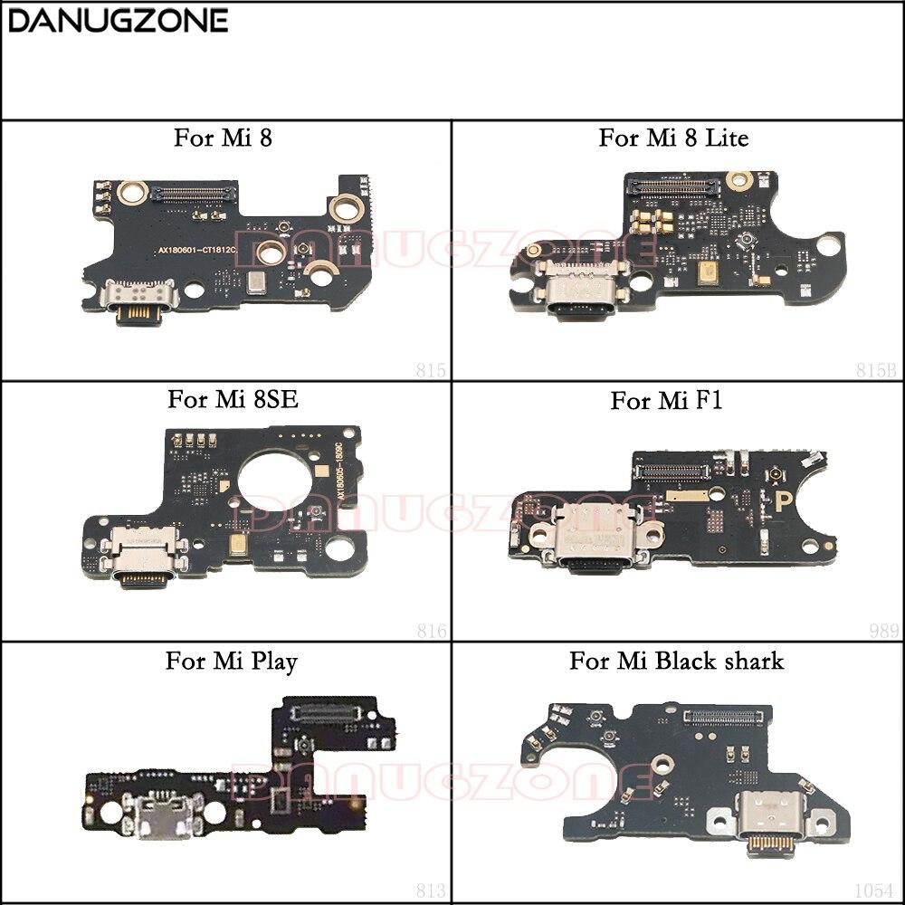 USB Charging Dock Plug Socket Jack Port Connector Charge Board Flex Cable For Xiaomi Mi 8 Lite 8SE F1 / Mi Play / Mi Black Shark