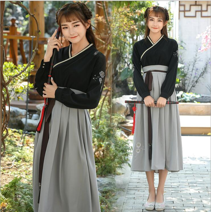 Retro Chinese Style Hanfu Long Dress 2