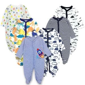 Image 2 - 6 יח\חבילה תינוק Rompers 2019 ארוך שרוול 100% כותנה סרבל יילוד בגדי Roupas דה bebe בני בנות סרבל & בגדים