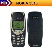 Envío gratis original nokia 3310 mobile teléfono gsm reformado nokia teléfono celular soporte ruso español hebreo