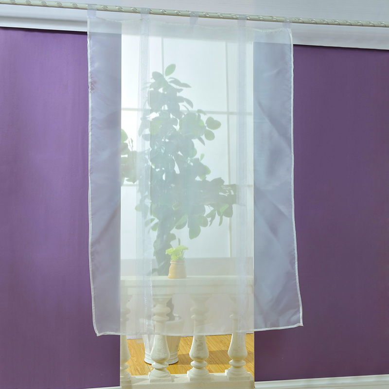 1PC Curtain Sheer Kitchen Bathroom Balcony Window Curtain Voile Liftable  Roman Blinds(China (Mainland