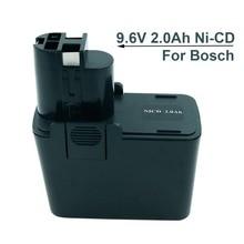 Batería de herramienta eléctrica de repuesto ni cd, 9,6 V, 2000 Ah, para Bosch, 2607335037 mAh, BAT001, 2607335469, 2610910400, BAT001, BH 974
