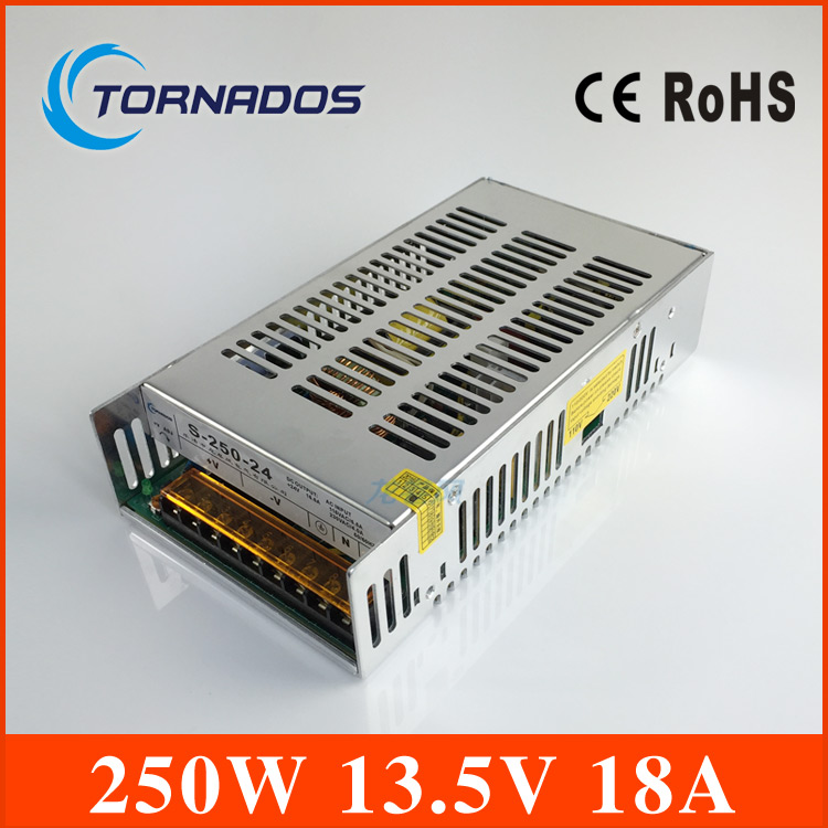 led power supply switch 250W 13.5v 18A ac dc converter power supply unit S-250-13.5 13.5V variable dc voltage regulator led power supply switch 200w 12v 16 5a power supply unit ac dc converter s 200w 12v variable dc voltage regulator s 200 12