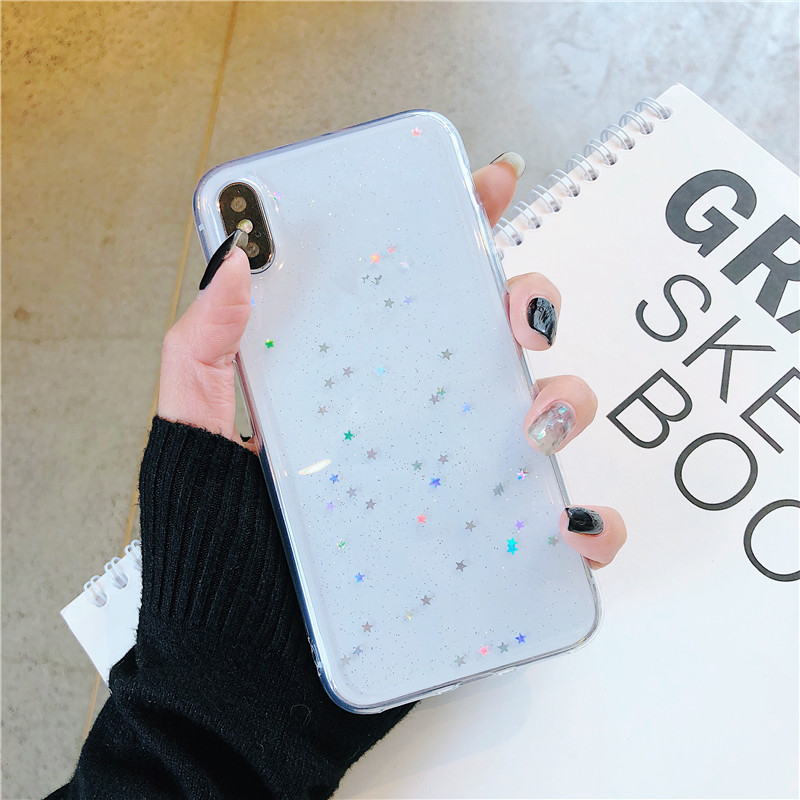 HTB1mwiLRYrpK1RjSZTEq6AWAVXaE - GIMFUN Star Bling Glitter Phone Case for Iphone 11 Pro Max Clear Back Love Heart tpu Case Cover for Iphone Xr X 7 6 8 Plus 5s SE
