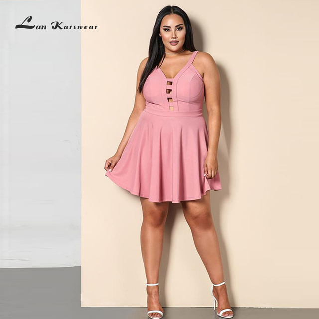 2019 Party Night Short Mini Dress Plus Size Women\'s Summer Beach ...