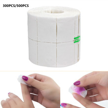 300/500pcs/Roll White Nail Cotton Pads Wipes Polish Gel Remover Lint Paper Props Nail Art Tips Cutton Manicure Cleaning Tools