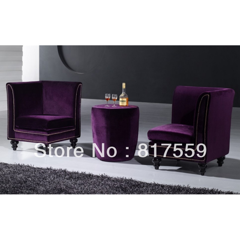 Super Sofa stoel, paars sofa stoel, paarse bank in Sofa stoel, paars LT-59