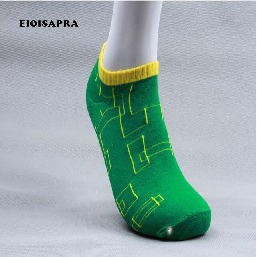 [Eioisapra] Новая мода лето Для мужчин Творческий Повседневное Носки для девочек Для мужчин высокое качество 4 цвета Стиль короткие носки Calcetines HOMBRE