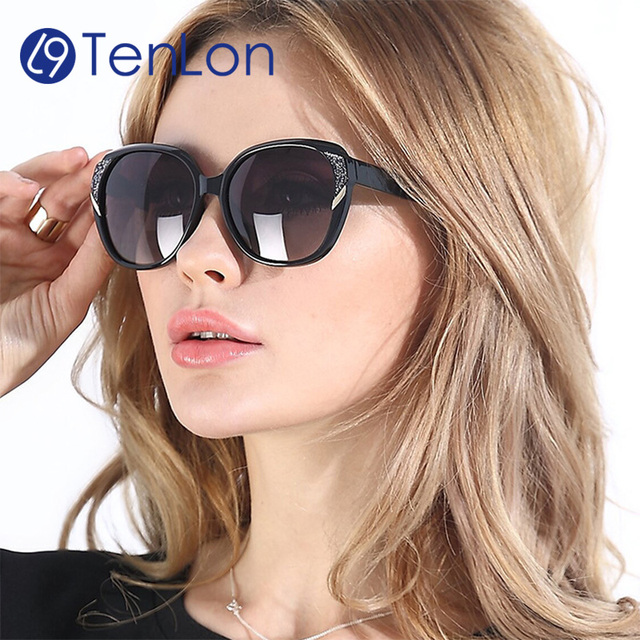 62167b836ff TenLon Glasses Matte Decoration Polarized Sunglasses women basic women sun  glasses oculos de sol feminino eyewear