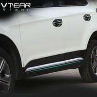 Vtear для hyundai ix25 creta двери автомобиля украшения тела полосы внешней отделки Крышки Хром Стайлинг creta аксессуаре 2015 18