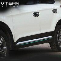 Vtear For Hyundai ix25 creta Car Door Body decoration Strip Exterior Trim Cover Chromium Styling creta product accessory 2015 18