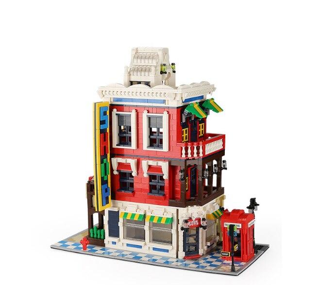 2332 pièces coin magasin mini blocs Architecture bloc de construction jouets blocs de diamant bricolage construction blocs éducatifs