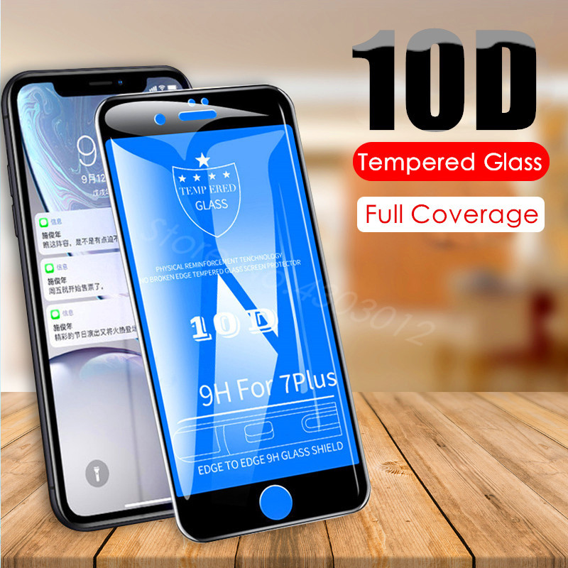 10D Full Cover Protection Film on the For iPhone 7 Glass iPhone 8 6 6s Plus Tempered Glass For iPhone XR XS Max Screen Protector Борода