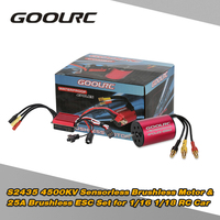 GoolRC S2435 4500KV Sensorless Brushless Motor and 25A Brushless ESC Combo Set for 1/16 1/18 RC Car Truck RC motor Parts NEW