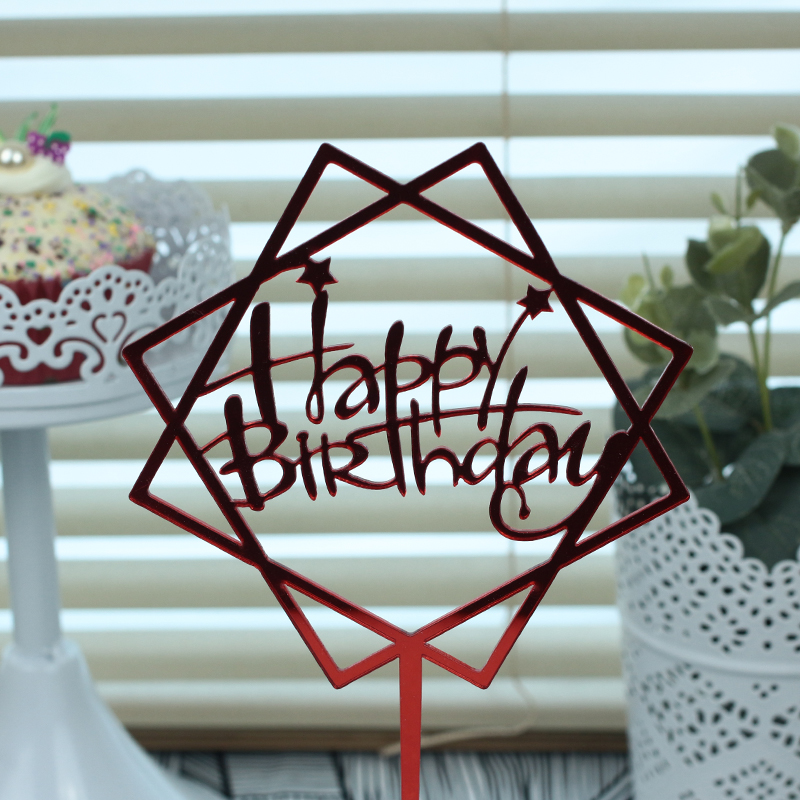 10 Pcs Acrylic Happy Birthday Cake Toppers For Baby Shower Cupcake Toppers Cake Topper Wedding Personalized Cake Decoration in Cake Decorating Supplies from Home Garden