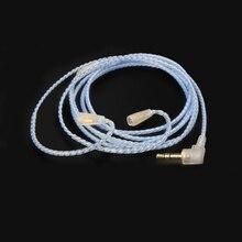 Earmax 4 core Hand Made Silver Plated Earphone Headset Headphone Cable for IE8 IE80 IE8I ER80