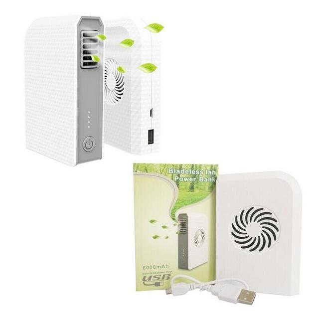 100% Nueva Eastshine Mini Ventilador Cargador Portátil Powerbank Banco de la Energía 6000 Mah Paquete de Batería Externa Con Ventilador Batterie Externe