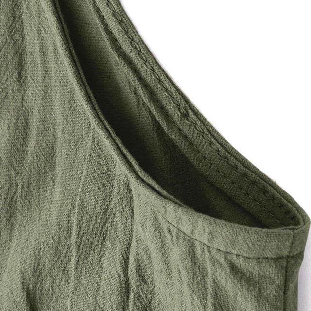 Plus Size Ladies Jumpsuit New Cotton Linen Harem Long Loose Spaghetti Strap Romper Casual Sexy Jumpsuit For Women Long Pants 6