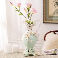 Handcrafts fashion ceramic flower vase gold painting vase tabletop home decoration gift Accessories Flower Pot Desktop