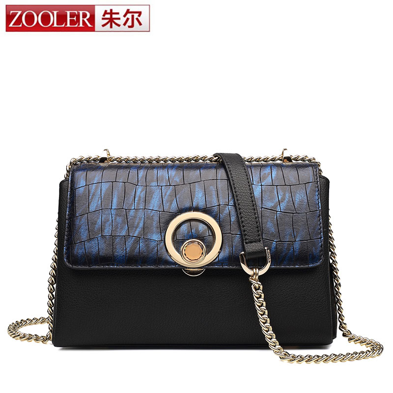 ZOOLER Hot Sale Luxury Brand Design Women Genuine Leather Small Chain Cover Bag Real Cowskin Crossbody Shoulder Messenger Bag mini gray shaggy deer pvc quilted chain bag with cover real picture