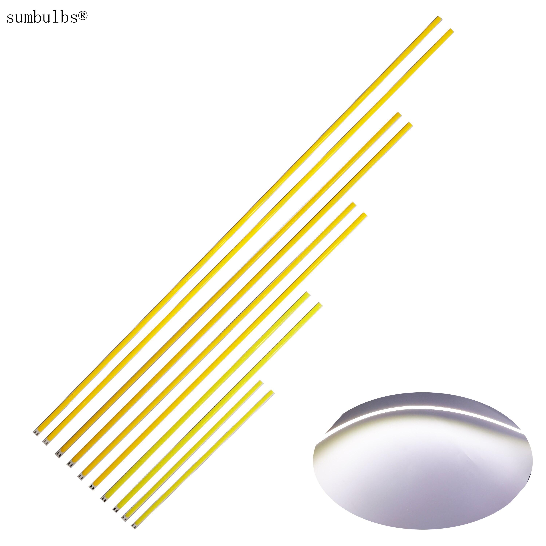 10pcs/lot 200mm 300mm 400mm 500mm 600mm 12V DC Flexible COB LED Strip Bar Lights 12V Ultra Bright Lamps DIY Outdoor LED Bulb