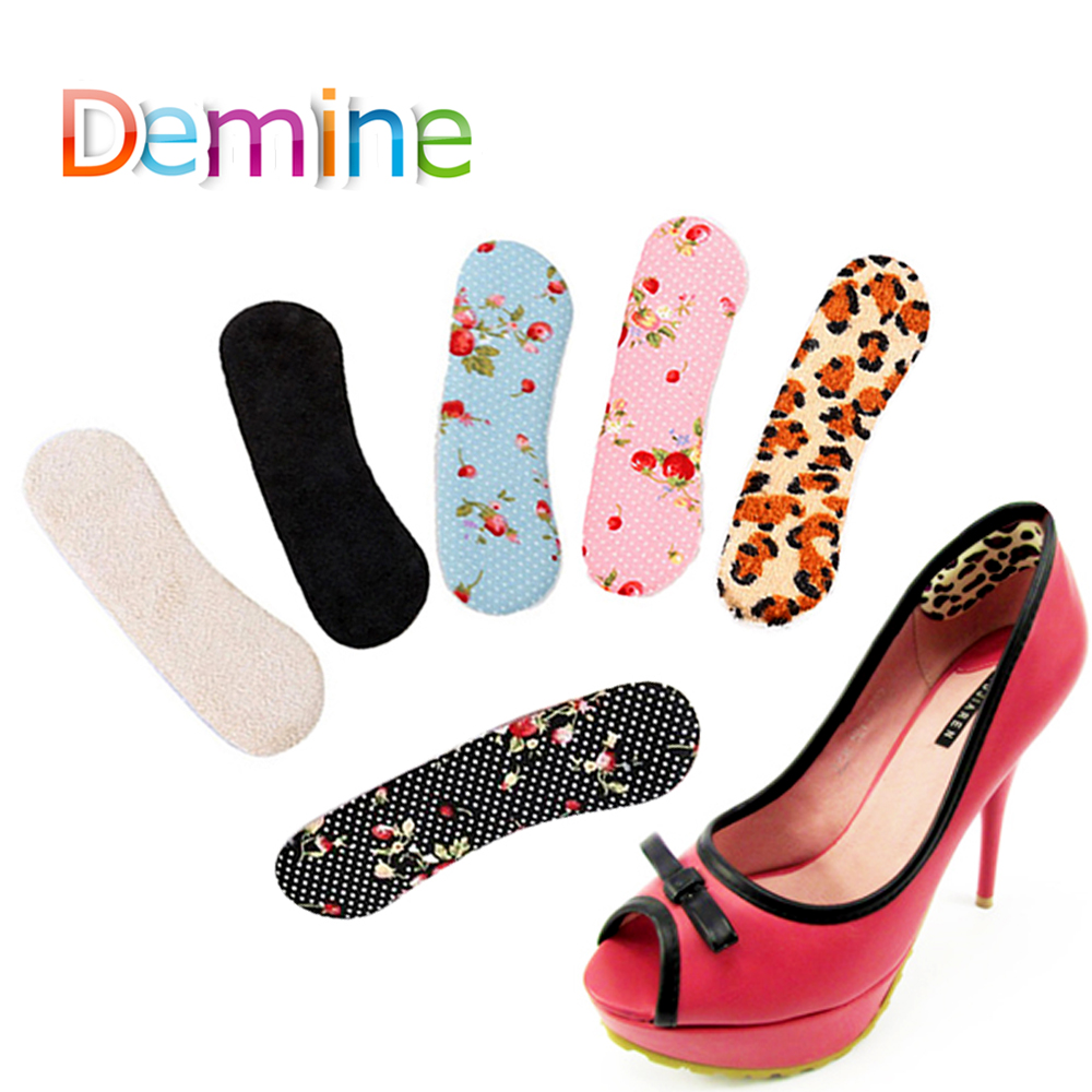 Demine Gel Silicone Anti-slip High Heel Shoes Back Liner Shoe Insoles Cushion Pads for Protect Feet from Blisters InsertsDemine Gel Silicone Anti-slip High Heel Shoes Back Liner Shoe Insoles Cushion Pads for Protect Feet from Blisters Inserts