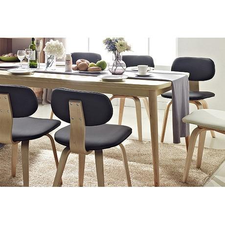 Dodge Scandinavian Modern Style Furniture, Solid Wood Birch Korean  Restaurant Dining Chairs Set Fashion 1700