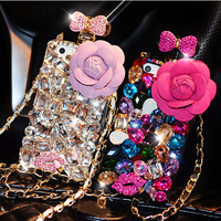 Luxury 3D Diamond Case Rhinestone Crystal Bling Cover Coque For Samsung Galaxy S6 Edge Plus S7