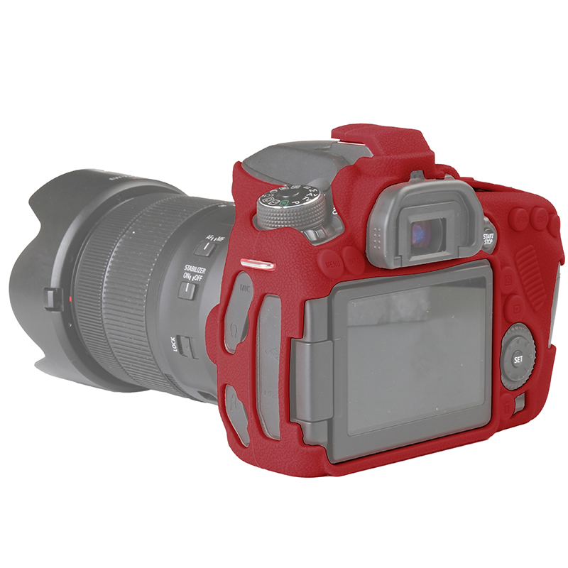 Qeento alta qualità slr sacchetto della macchina fotografica per canon eos 80d leggero camera bag case cover per canon 80d nero camouflage giallo rosso