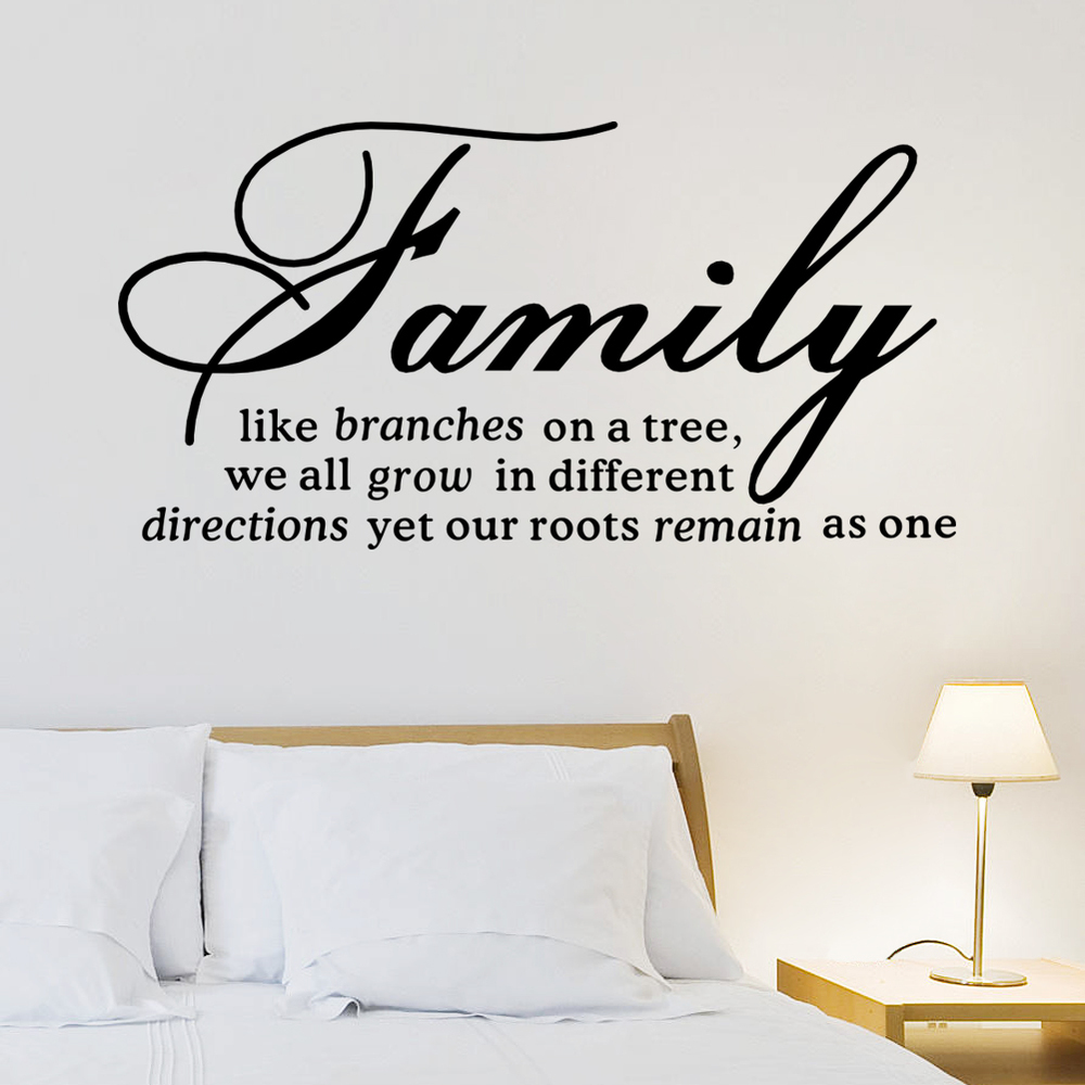 online get cheap family quotes wall decals aliexpress com family like branch wall decal removable wall sticker quotes 8082 mural art home decor living