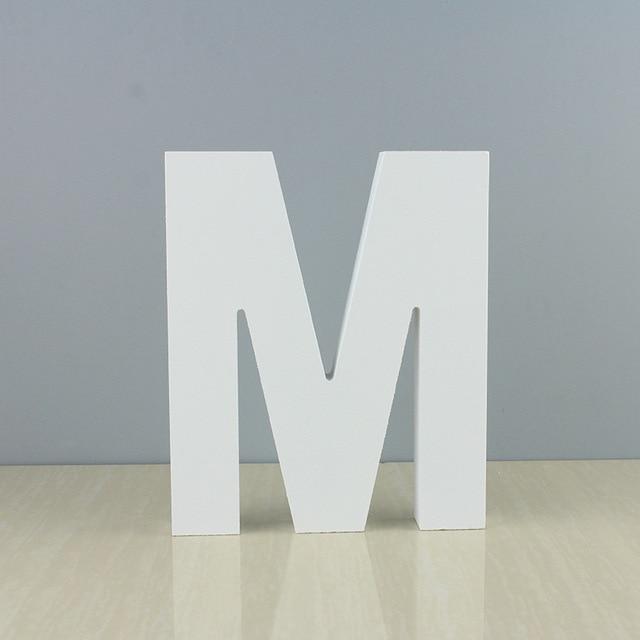 15cm / 10Cm Freestanding Wooden Word Color Letter Crafts Wedding Party Home Decoration DIY Custom Decoration Name Design 6